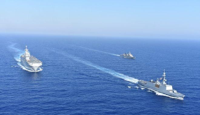 Κοινή ναυτική άσκηση Ελλάδας-Γαλλίας στο Αιγαίο