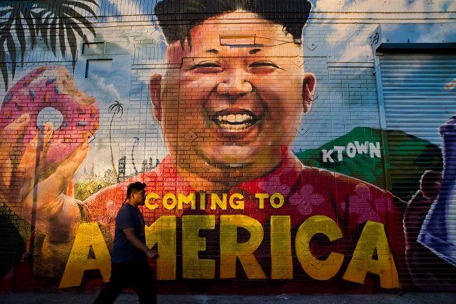 Ο Κιμ Γιονγκ Ουν έγινε ήδη και γκράφιτι στους δρόμους του Λος Αντζελες
