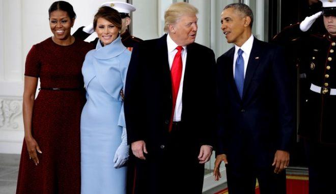 To ζεύγος Ομπάμα με το ζεύγος Τραμπ