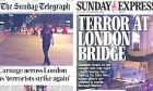 Επίθεση στο Λονδίνο: Τα πρωτοσέλιδα του βρετανικού Τύπου