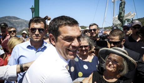 Επίσκεψη του Πρωθυπουργού Αλέξη Τσίπρα στην Ιθάκη την Τρίτη 21 Αυγούστου 2018. Ο πρωθυπουργός από την Ιθάκη θα απευθύνει μήνυμα στον ελληνικό λαό την έξοδο της χώρας από τα Μνημόνια. (EUROKINISSI/ΓΙΩΡΓΟΣ ΚΟΝΤΑΡΙΝΗΣ)