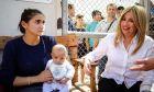 Η επικεφαλής του Κινήματος Αλλαγής Φώφη Γεννηματά,επισκέφθηκε σήμερα το κέντρο φιλοξενίας προσφύγων και μεταναστών στην Μόρια της Λέσβου,Παρασκευή 21 Σεπτεμβρίου  2018 (EUROKINISSI/ΣΥΝΕΡΓΑΤΗΣ)