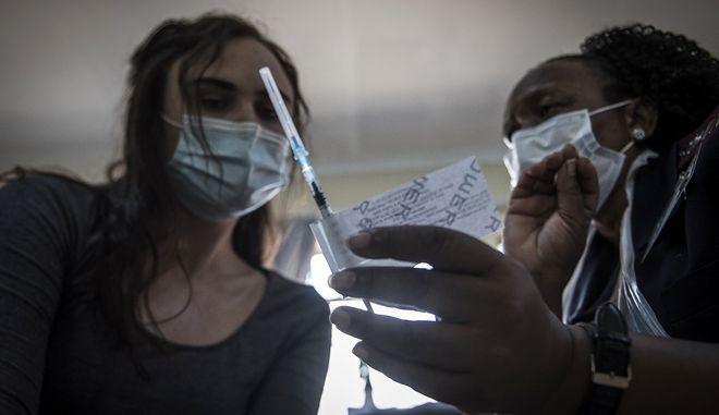 To εμβόλιο της Johnson & Johnson στη Νότια Αφρική.
