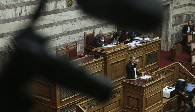 Discussion and voting on  social dividend in parliament, in Athens, on Nov. 11, 2017 /             ,  ,  11 , 2017