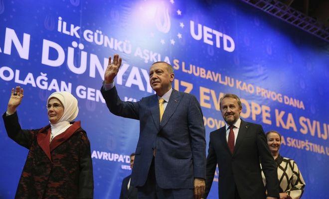 Ο Πρόεδρος της Τουρκίας σε προεκλογική ομιλία του στου Σαράγεβο