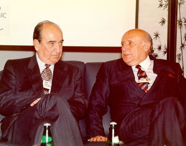 Συνάντηση Κ. Μητσοτάκη με τον Suleiman Demirel στο World Economic Forum, 1/2/1992
