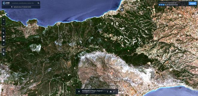 Φωτιά στα Γεράνεια Όρη: Αποκαρδιωτικές εικόνες από δορυφόρο - Το πριν και το μετά