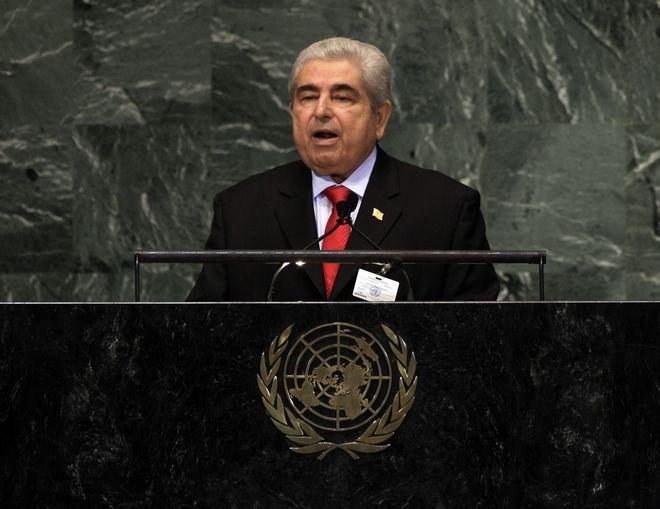 Στη Γενική Συνέλευση των Ηνωμένων Εθνών στο Ηνωμένο Βασίλειο (AP Photo/Richard Drew)