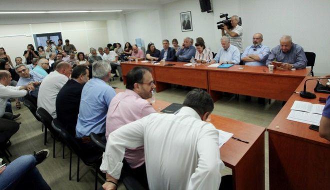 Φωτογραφία από τη συνεδρίαση της Εκτελεστικής Γραμματείας του ΚΙΝΑΛ