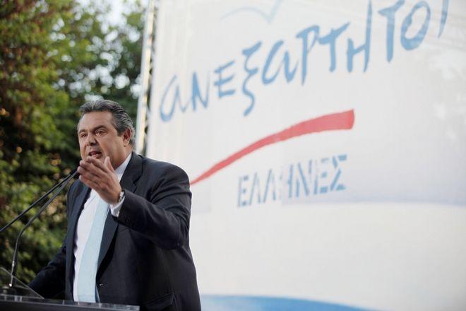 Ο Πάνος Καμμένος σε προεκλογική συγκέντρωση των ΑΝΕΛ το 2012