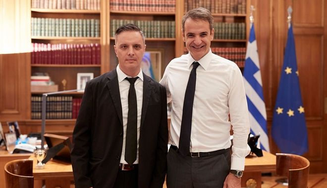 Στηβ Βρανάκης και Κυριάκος Μητσοτάκης