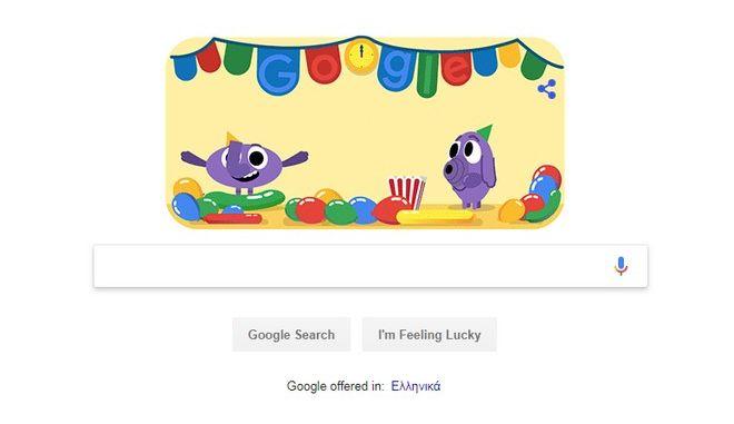 Το doodle της Google για την Πρωτοχρονιά