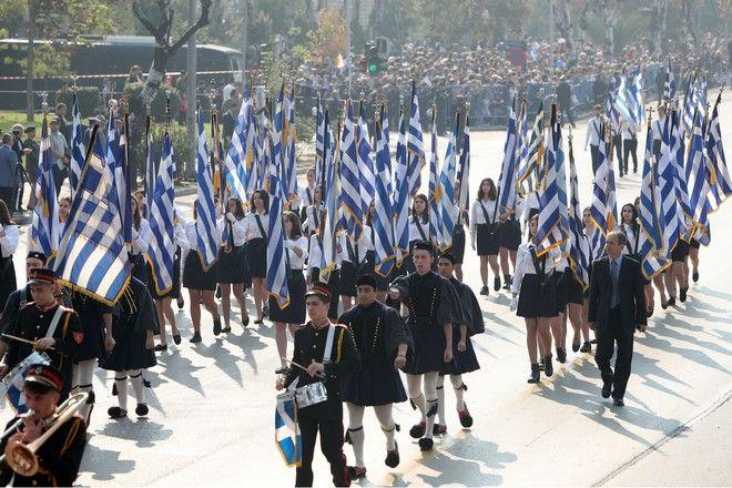 Στρατιωτική παρέλαση στη Θεσσαλονίκη για την επέτειο της 28ης Οκτωβρίου