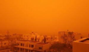Η αφρικανική σκόνη ''σκέπασε'' τον ουρανό της Κρήτης