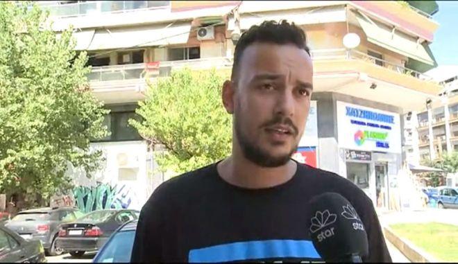 """Θεσσαλονίκη: """"Έπεσε να αυτοκτονήσει από τη γέφυρα πάνω μου, με έσωσε το κράνος"""""""