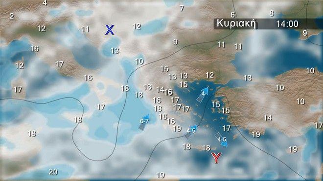 Ο καιρός στην Ελλάδα την Κυριακή