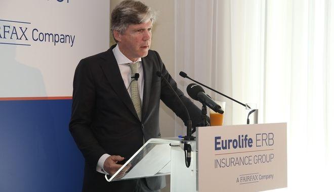 Ο Πρόεδρος και Διευθύνων Σύμβουλος της Eurolife ERB Insurance Group Α.Ε. Συμμετοχών, κος Αλέξανδρος Σαρρηγεωργίου.