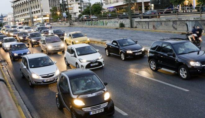 Η κίνηση στους δρόμους της Αθήνας