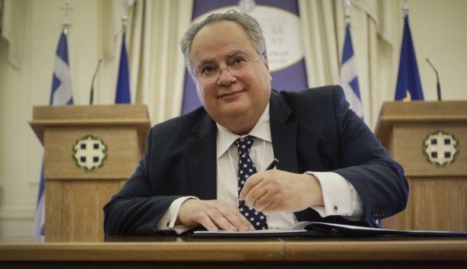 Ο υπουργός εξωτερικών της Ελλάδας, Νίκος Κοτζιάς