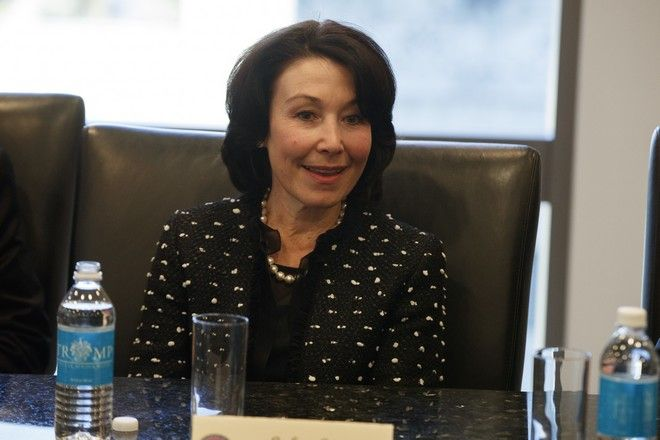 Oracle CEO Safra Catz speaks during a meeting with President-elect Donald Trump and technology industry leaders at Trump Tower in New York, Wednesday, Dec. 14, 2016. (AP Photo/Evan Vucci)