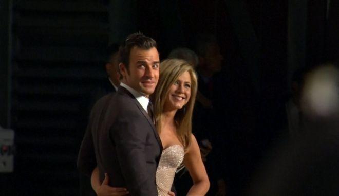 Η Jennifer Aniston και ο Justin Theroux όταν ήταν ακόμα παντρεμένοι