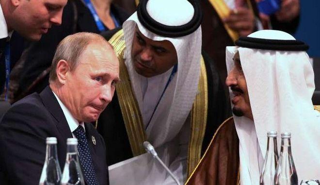 Τηλεφωνική επικοινωνία Πούτιν με τον βασιλιά της Σαουδικής Αραβίας για το θέμα της Συρίας