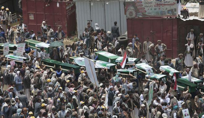 Κηδεία θυμάτων στην Υεμένη