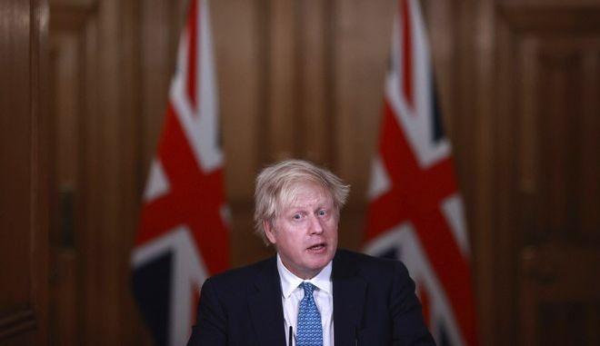 Ο πρωθυπουργός Μπόρις Τζόνσον