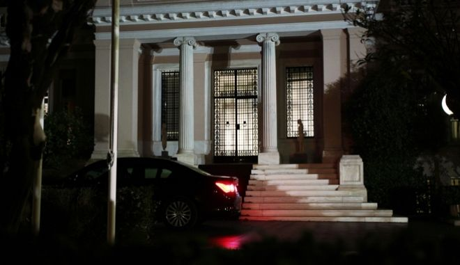 Meeting between Prime Minister Antonis Samaras and Vice President of the Government and Minister for Foreign Affairs Evangelos Venizelos, at Maximos Mansion on Oct. 1, 2014. The decission of the two leaders of the coalition government was to ask the Parliament for a Vote of Confidence /                    . , 1 , 2014
