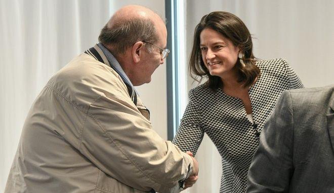Συνάντηση της υπουργού Παιδείας και Θρησκευμάτων Νίκης Κεραμέως, με τον τομεάρχη Παιδείας του ΣΥΡΙΖΑ Νίκο Φίλη