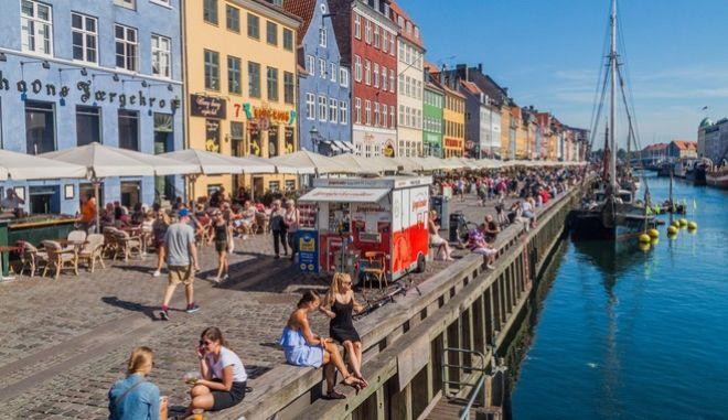 Πολίτες στην Κοπεγχάγη.