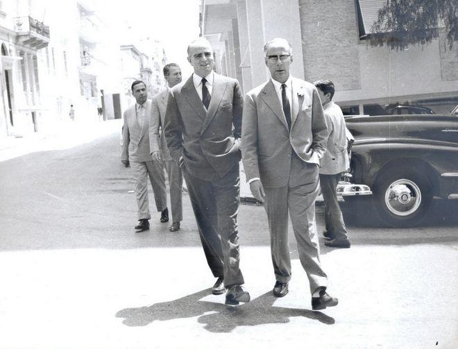 Ο Κωνσταντίνος Καραμανλής με το Γεώργιο Ράλλη το 1957