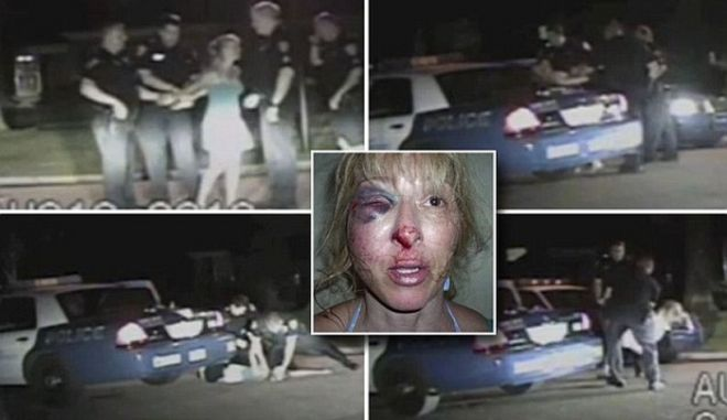 Βίντεο: Απρόκλητος ξυλοδαρμός γυναίκας από αστυνομικούς