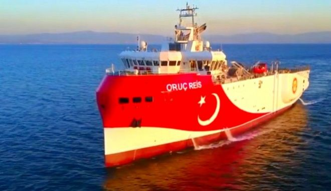 """Η τουρκική πρεσβεία στις ΗΠΑ ανακοίνωσε """"σεισμικές έρευνες"""" αλλά το Oruc Reis είναι ακίνητο"""