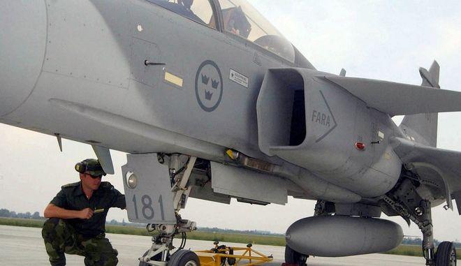 Σουηδικό μαχητικό αεροσκάφος