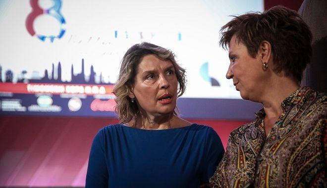 Η Όλγα Γεροβασίλη και η Κατερίνα Παπακώστα