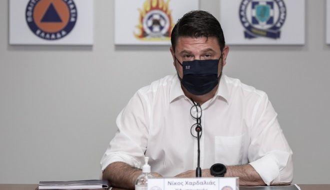 Ο υφυπουργός Πολιτικής Προστασίας, Νίκος Χαρδαλιάς