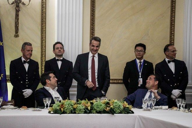 Επίσημο δείπνο προς τιμήν του Προέδρου της Λαϊκής Δημοκρατίας της Κίνας Σι Τζινπίνγκ από τον Πρόεδρο της Δημοκρατίας Προκόπη Παυλόπουλο, την Δευτέρα 11 Νοεμβρίου 2019.