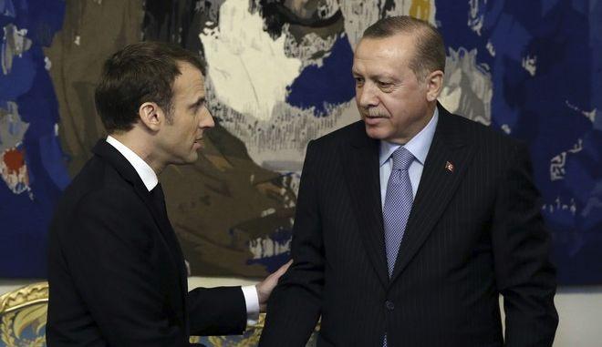 Η συνάντηση Μακρόν - Ερντογάν στο Παρίσι
