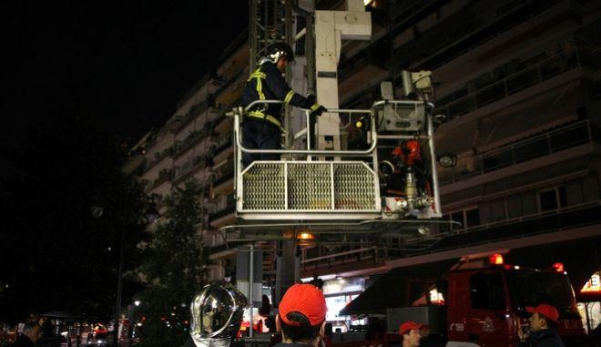 Πυρκαγιά σε διαμέρισμα επί της οδού Παλαιών Πατρών Γερμανού στην Θεσσαλονίκη