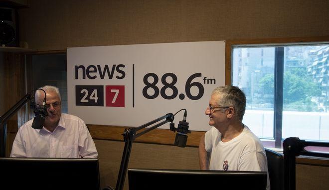 Ο Βαγγέλης Θεοδωρόπουλος στο στούντιο του News 24/7 στους 88,6