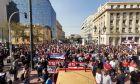 Σε εξέλιξη οι απεργιακές συγκεντρώσεις στο κέντρο της Αθήνας