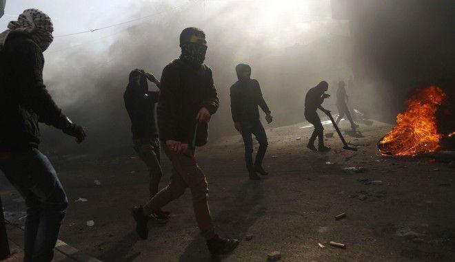 Συγκρούσεις Παλαιστινίων και Ισραηλινών στρατιωτών στη Δυτική Όχθη