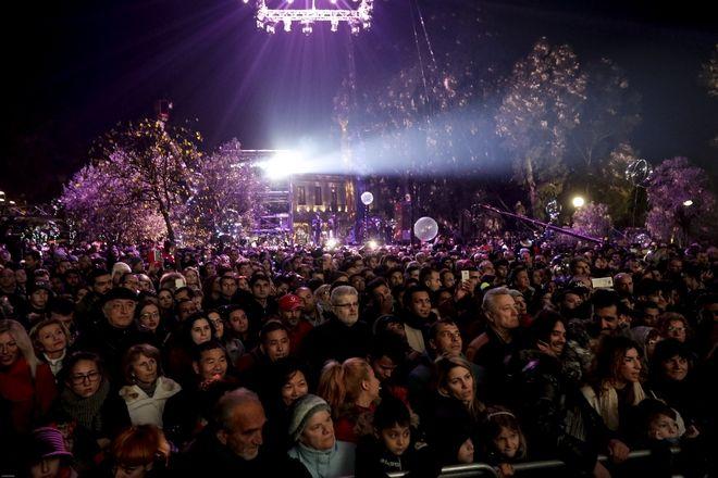 Υποδοχή του 2018 από τον δήμο Αθηναίων στο Θησείο. (EUROKINISSI/ΓΙΑΝΝΗΣ ΠΑΝΑΓΟΠΟΥΛΟΣ)