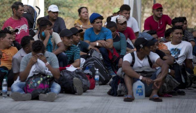 Μετανάστες από την Ονδούρα στην Τσιάπας