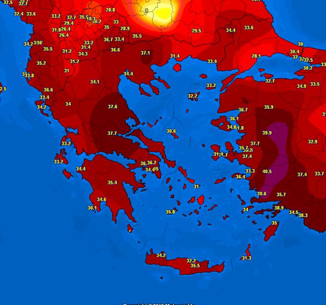 Καύσωνας: Θα ξεπεράσει τοπικά τους 40 βαθμούς η θερμοκρασία -