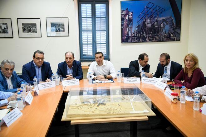 Ευρεία σύσκεψη υπό τον πρωθυπουργό στο Τεχνολογικό Πολιτιστικό Πάρκο Λαυρίου. Τρίτη 7/8/2018. (Eurokinissi/ΚΑΡΑΓΙΑΝΝΗΣ ΜΙΧΑΛΗΣ)