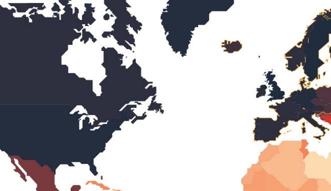 Χάρτης: Πόσο ισχυρό είναι το ελληνικό διαβατήριο