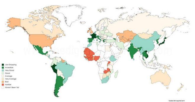 Χάρτης: Αυτές είναι οι χώρες με το καλύτερο φαγητό στον κόσμο – Πού κατατάσσεται η Ελλάδα