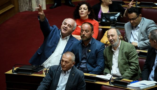 Η κοινοβουλευτική ομάδα του ΚΚΕ.